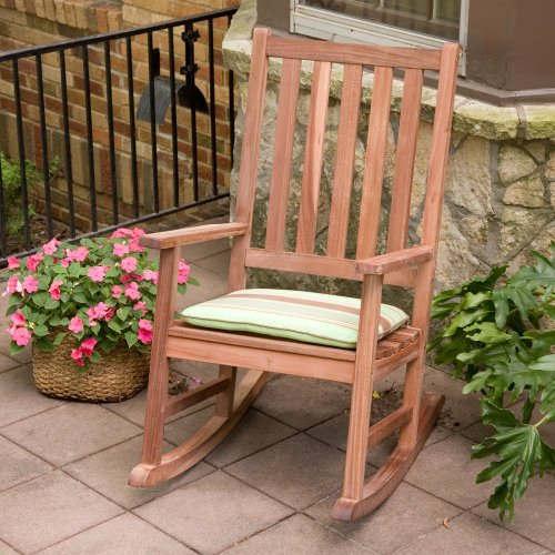 Coral Coast Richmond Heavy Duty Outdoor Teak Rocking Chair