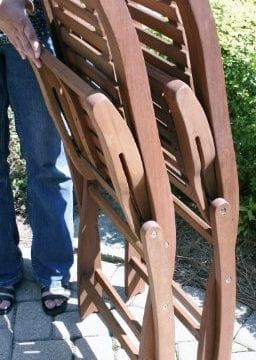 Folding Eucalyptus Side Chair Fully Assembled 2 Pack 0 1 256x360