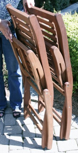 Folding Eucalyptus Side Chair Fully Assembled 2 Pack 0 1