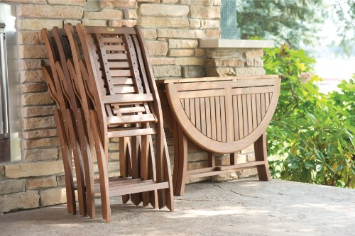 Folding Eucalyptus Side Chair Fully Assembled 2 Pack 0 2