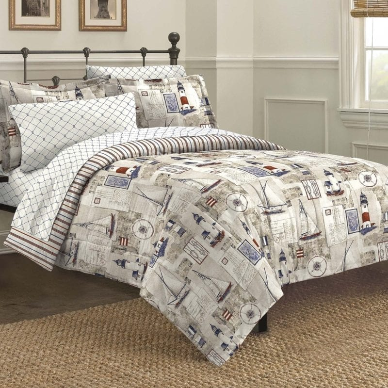 Free-Spirit-Cape-Cod-Seaside-Sailing-Nautical-Bedding-Comforter-Set-Multi-Colored-ALL-800x800 Coastal Bedding Sets and Beach Bedding Sets