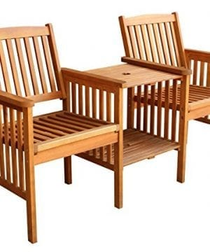 LuuNguyen-Outdoor-Hardwood-Tete-a-Tete-Bench-Natural-Wood-Finish-0-300x360 Best Teak Patio Furniture Sets