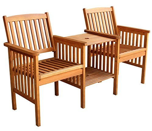 LuuNguyen-Outdoor-Hardwood-Tete-a-Tete-Bench-Natural-Wood-Finish-0 100+ Outdoor Teak Benches
