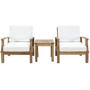 Modway-3-Piece-Marina-Outdoor-Richly-Textured-Patio-Teak-Sofa-Set-Natural-White-0-300x300 51 Teak Outdoor Furniture Ideas For 2020