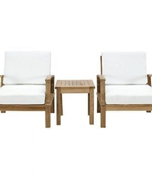 Modway-3-Piece-Marina-Outdoor-Richly-Textured-Patio-Teak-Sofa-Set-Natural-White-0-300x360 Best Teak Patio Furniture Sets