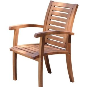 Outdoor-Interiors-21090-Luxe-Eucalyptus-Arm-Chair-0-300x300 Teak Dining Chairs & Outdoor Teak Chairs