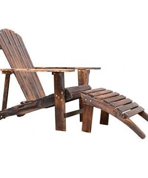 Outsunny-Wooden-Adirondack-Outdoor-Patio-Lounge-Chair-w-Ottoman-Rustic-Brown-0-300x360 Top-Rated Adirondack Chairs