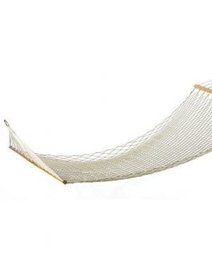 Pinty-59-2-Person-Cotton-Rope-Hammock-Swinging-Bed-with-Spreader-Bar-for-Outdoor-Patio-Yard-0-300x360 100+ Best Rope Hammocks