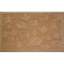 Seashells-outdoor-beach-doormat Beach Doormats and Coastal Doormats
