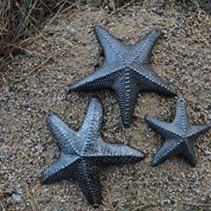 Starfish Set Of 3 Nautical Home Decor Recycled Wall Art 6 X 6 And 45 X 45 0 1 300x300