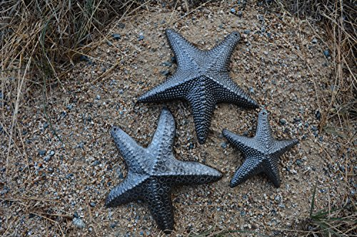 Starfish Set Of 3 Nautical Home Decor Recycled Wall Art 6 X 6 And 45 X 45 0 1