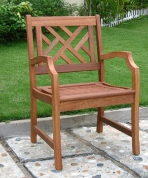 VIFAH-Outdoor-Wood-Arm-Chair-Natural-Wood-Finish-0-300x360 51 Teak Outdoor Furniture Ideas