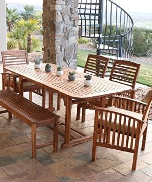WE-Furniture-6-Piece-Acacia-Wood-Dining-Set-with-Cushions-0-300x360 Best Teak Patio Furniture Sets