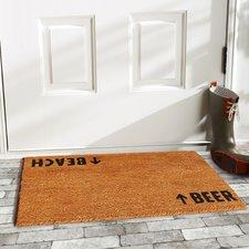 beach-beer-arrows-coir-doormat Beach Doormats and Coastal Doormats