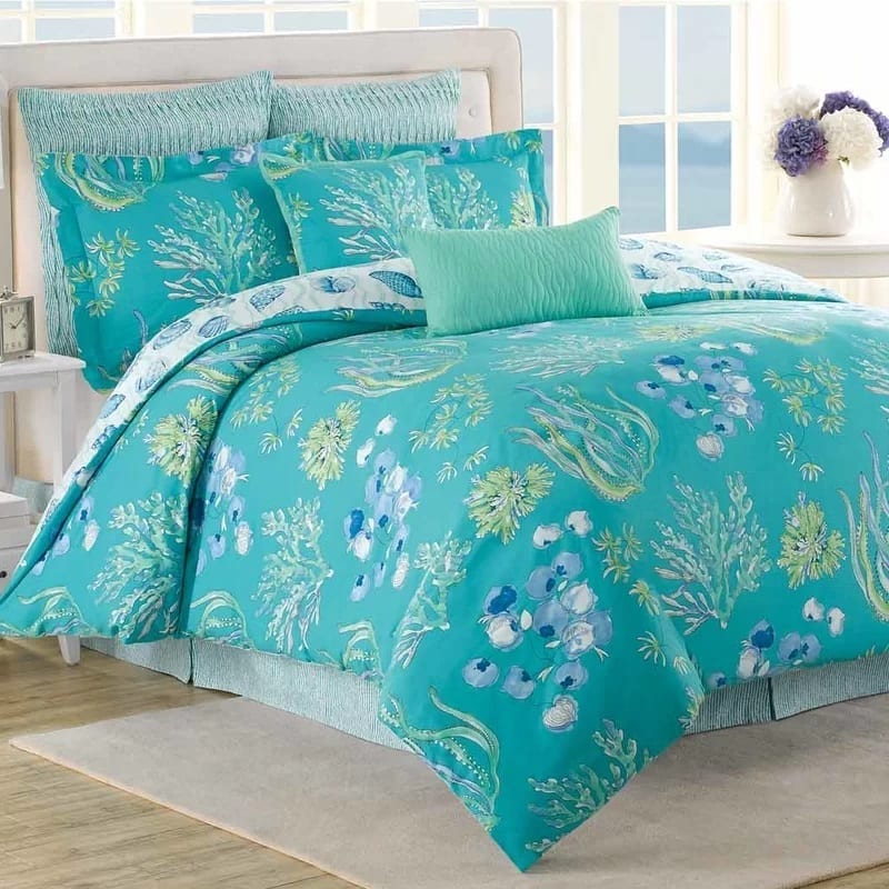 beachcomber-7-piece-reversible-beach-comforter-set-by-soho-new-york Coastal Bedding Sets and Beach Bedding Sets