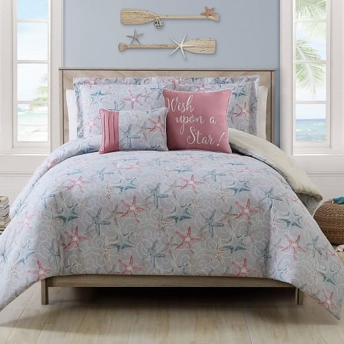 kinglinen-starfish-comforter-set Coastal Bedding Sets and Beach Bedding Sets