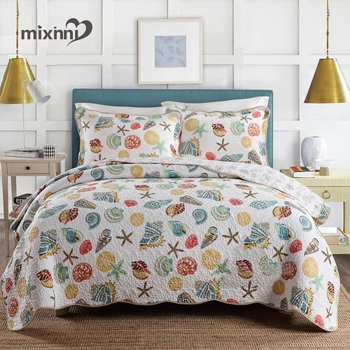 mixinni-super-soft-coral-bedding-set Coastal Bedding Sets and Beach Bedding Sets