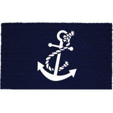 navy-and-white-anchor-doormat Beach Doormats and Coastal Doormats