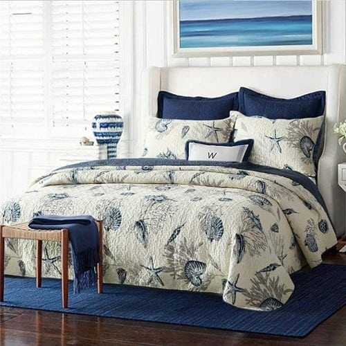 newrara-seashell-beach-bedding Coastal Bedding Sets and Beach Bedding Sets