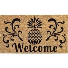 pineapple-welcome-doormat Beach Doormats and Coastal Doormats
