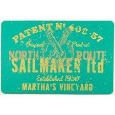 sailmaker-marthas-vinyard-teal-doormat Beach Doormats and Coastal Doormats