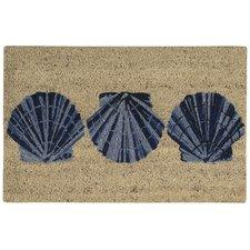 seashell-welcome-scallop-shells-doormat Beach Doormats and Coastal Doormats