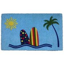sunny-beach-surf-doormat Beach Doormats and Coastal Doormats
