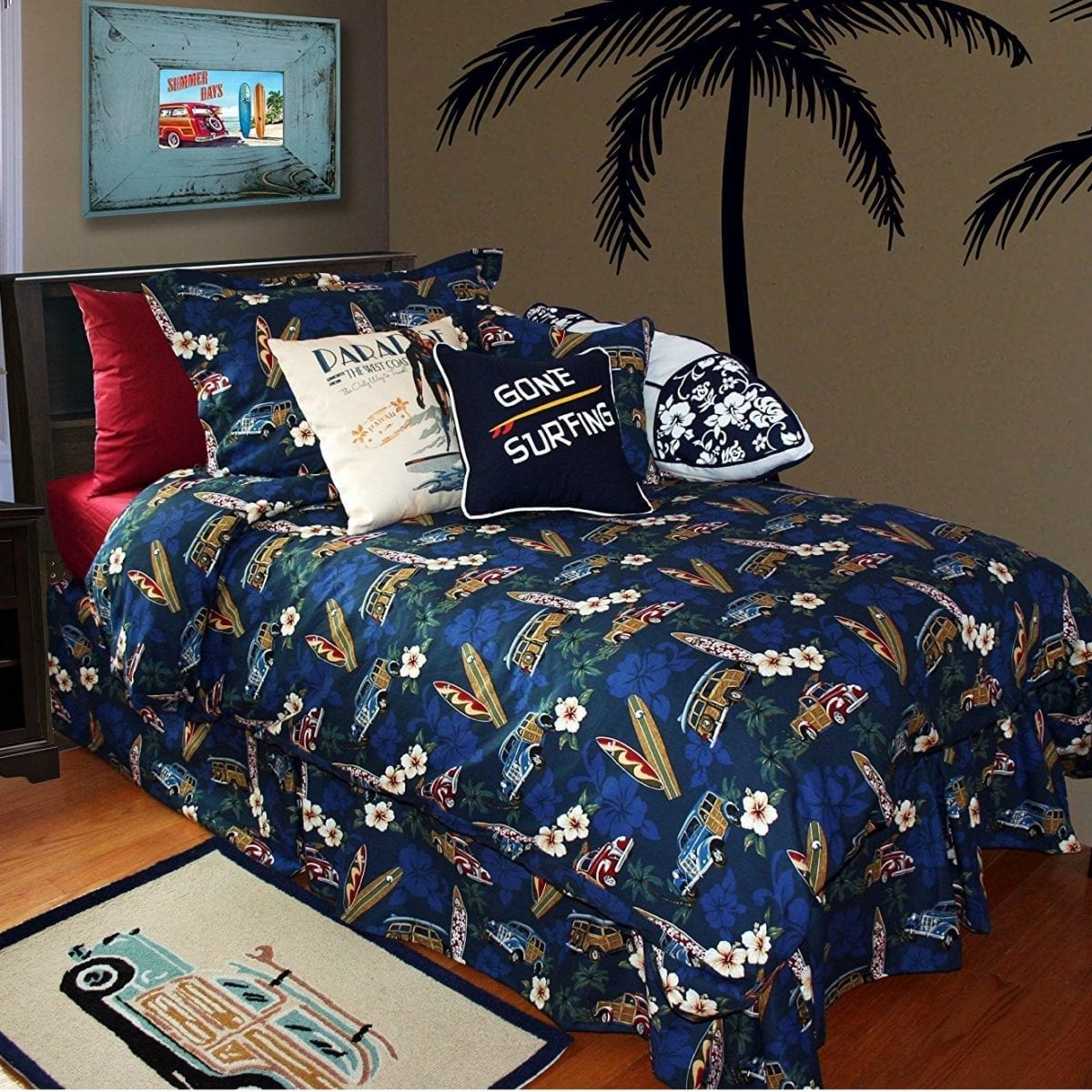 surf-bedding-set Coastal Bedding Sets and Beach Bedding Sets