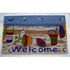 welcome-beach-toys-doormat Beach Doormats and Coastal Doormats