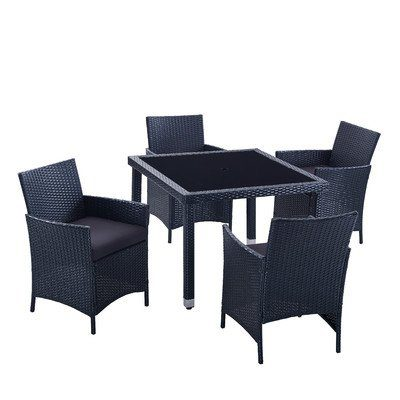 5-PC-Modern-Outdoor-All-Weather-Wicker-Rattan-Table-Patio-Set-Furniture-Dining-0 Wicker Patio Dining Sets