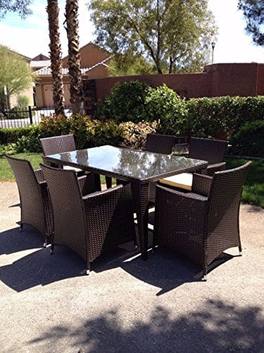 7-PC-Modern-Outdoor-All-Weather-Wicker-Rattan-Table-Patio-Set-Furniture-Dining-0 Wicker Patio Dining Sets