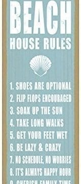 Beach House Rules Shell Image Beach Primitive Wood Plaques Signs Measure 5 X 15 Size 0 159x360