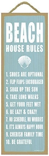 Beach-house-rules-shell-image-beach-primitive-wood-plaques-signs-measure-5-x-15-size-0 The Best Wooden Beach Signs You Can Buy