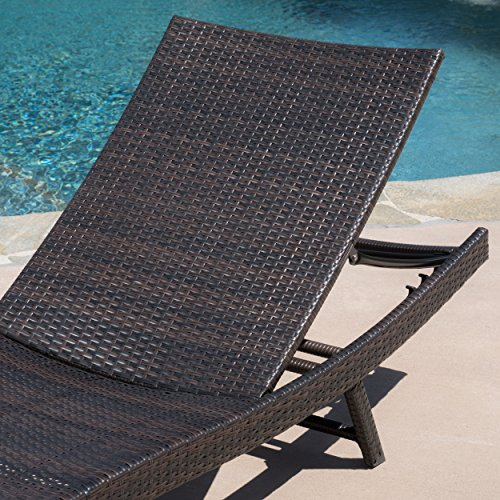 Eliana Outdoor Brown Wicker Chaise Lounge Chairs Set Of 2 0 0
