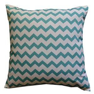Howarmer Cotton Canvas Aqua Blue Decorative Pillows Cover Set Of 4 Beach Theme Chevron Whales Sea Horse Sea Stars 0 0 300x300