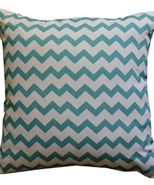 Howarmer Cotton Canvas Aqua Blue Decorative Pillows Cover Set Of 4 Beach Theme Chevron Whales Sea Horse Sea Stars 0 0 300x360