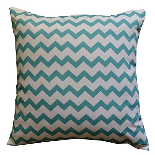 Howarmer Cotton Canvas Aqua Blue Decorative Pillows Cover Set Of 4 Beach Theme Chevron Whales Sea Horse Sea Stars 0 0