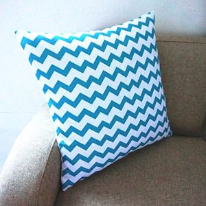 Howarmer Cotton Canvas Aqua Blue Decorative Pillows Cover Set Of 4 Beach Theme Chevron Whales Sea Horse Sea Stars 0 5 300x300