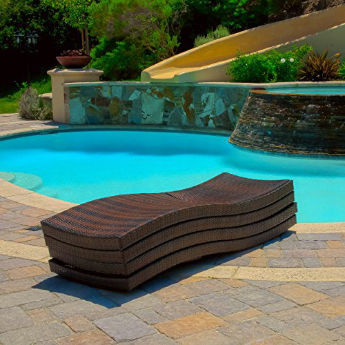 Lakeport Outdoor Adjustable Chaise Lounge Chair Set Of 4 0 2