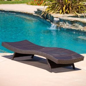 Lakeport Outdoor Adjustable PE Wicker Chaise Lounge Chair 0 0 300x300