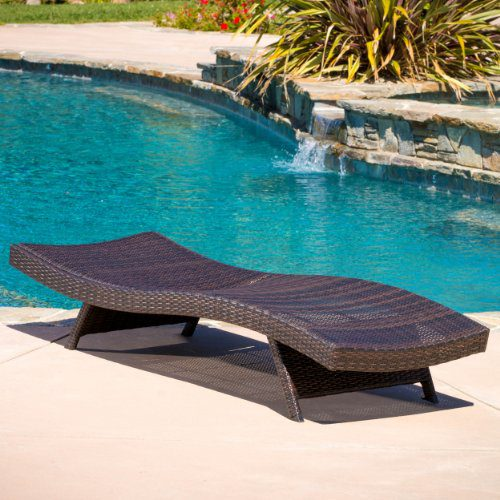 Lakeport Outdoor Adjustable PE Wicker Chaise Lounge Chair 0 0