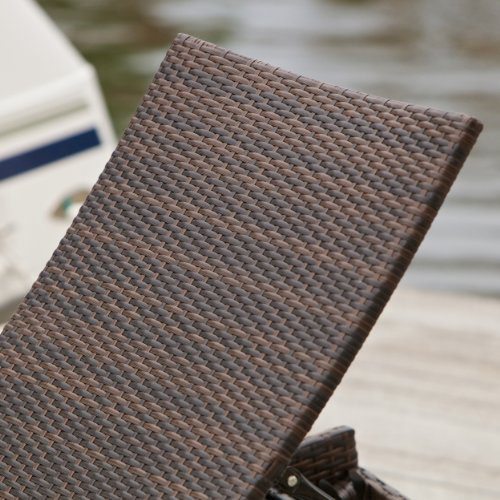 Lakeport Outdoor Adjustable PE Wicker Chaise Lounge Chair 0 1