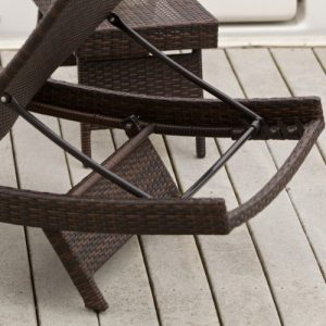 Lakeport Outdoor Adjustable PE Wicker Chaise Lounge Chair 0 2 300x300
