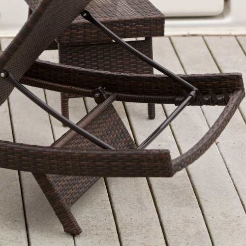 Lakeport Outdoor Adjustable PE Wicker Chaise Lounge Chair 0 2