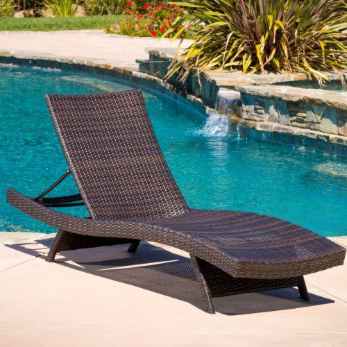 Lakeport Outdoor Adjustable PE Wicker Chaise Lounge Chair 0