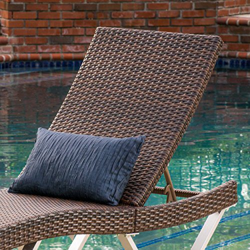 Manuela Outdoor Single Multibrown Wicker Chaise Lounge Chair 0 1