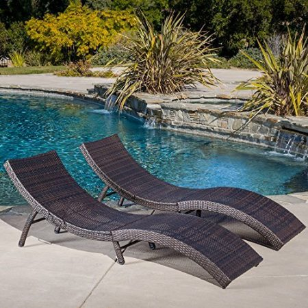 Maureen-Outdoor-Multibrown-PE-Wicker-Folding-Chaise-Lounge-Chairs-Set-of-2-0-450x450 Wicker Chaise Lounge Chairs