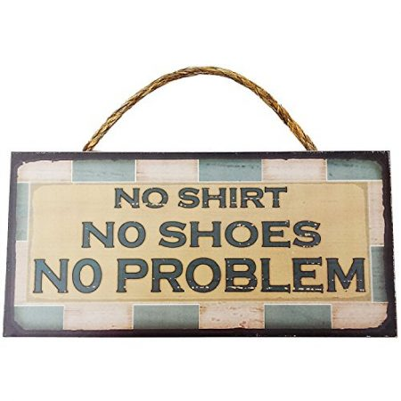 No-Shirt-No-Shoes-No-Problem-Vintage-Wood-Sign-For-Beach-House-Wall-Decor-Or-Gift-PERFECT-BEACH-HOUSE-DECOR-0-450x450 The Best Wooden Beach Signs You Can Buy