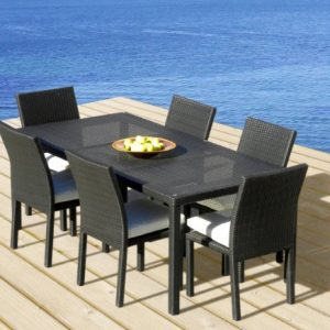 Outdoor Patio Wicker Furniture New All Weather Resin 7 Piece Dining Table Chair Set 0 0 300x300
