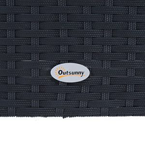 Outsunny 4 Piece Cushioned Outdoor Rattan Wicker Sofa Sectional Patio Furniture Set 0 3 300x300